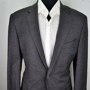 Joseph Abboud Gray Plaid Wool Sport Coat Jacket